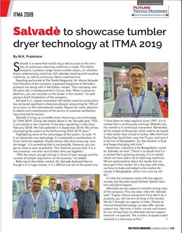 Textile Magazine ITMA 2019